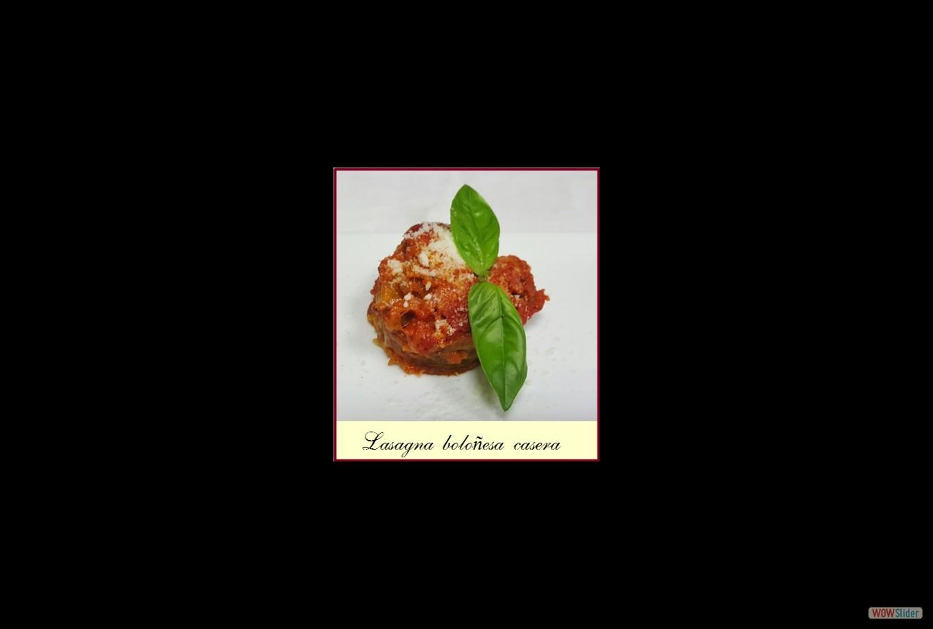 Lasagna casera